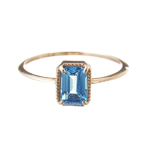"Fancy drop ring ""Bluetopaz"""