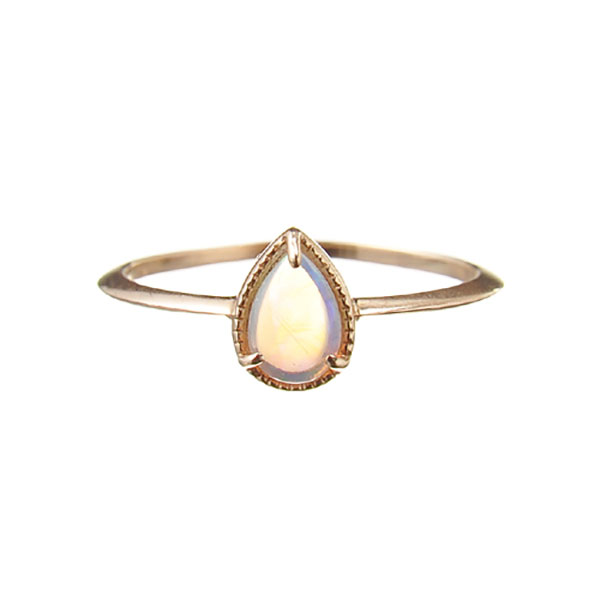 "Fancy drop ring ""Opal"""
