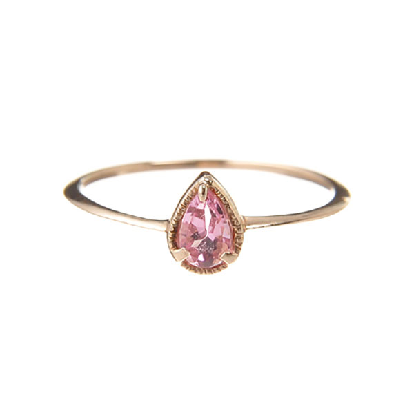 "Fancy drop ring ""Pinktourmaline"""
