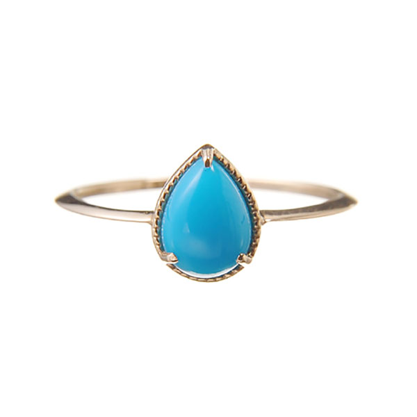 "Fancy drop ring ""Turquoise"""