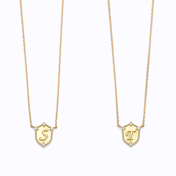 Lucky letter charm necklace 詳細画像