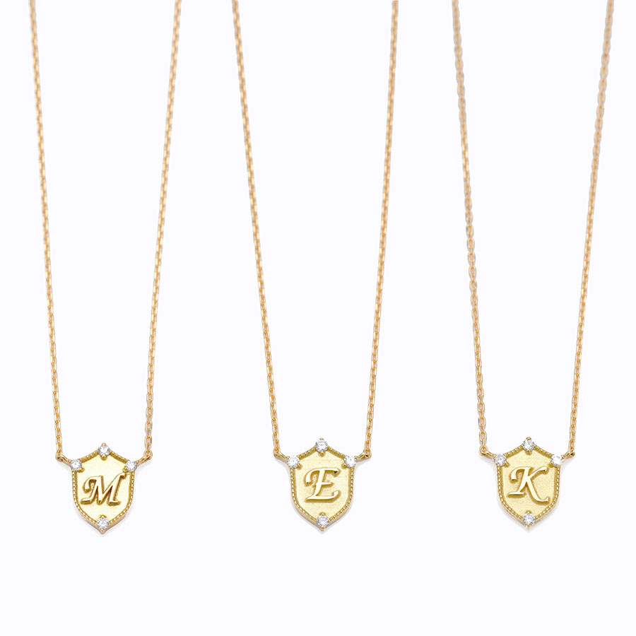 Lucky letter charm necklace 詳細画像 Gold 1