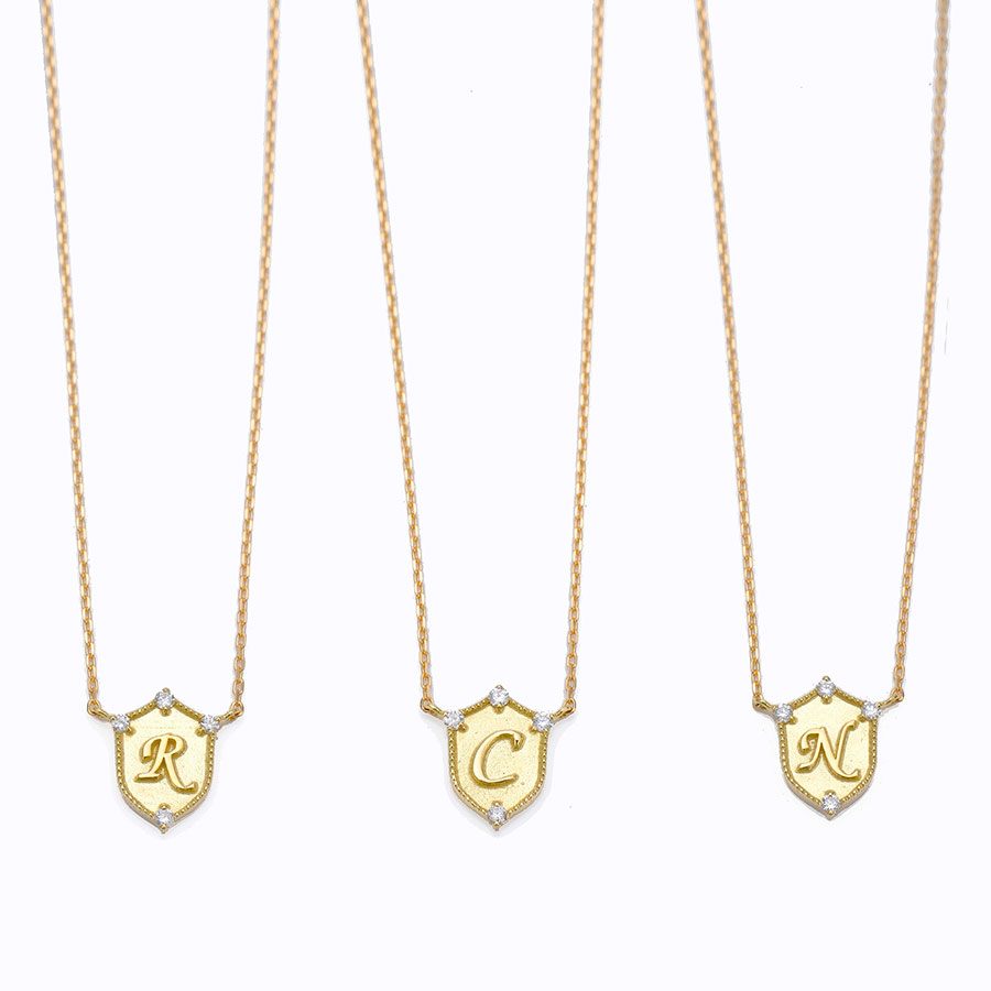 Lucky letter charm necklace 詳細画像 Gold 2