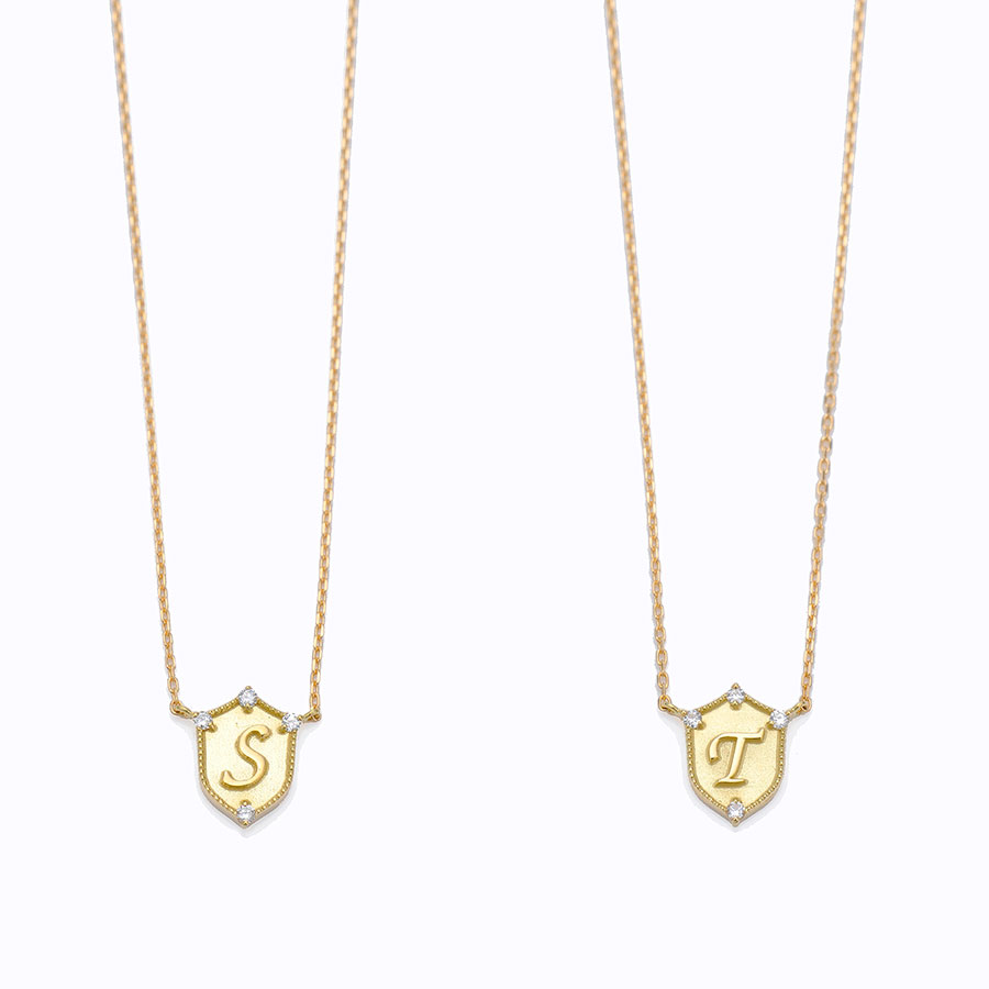 Lucky letter charm necklace 詳細画像 Gold 4