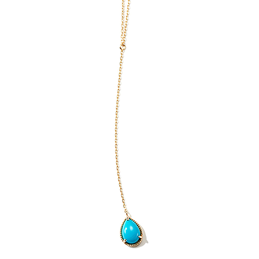 "Fancy drop necklace ""Turquoise"" 詳細画像 Gold 1"