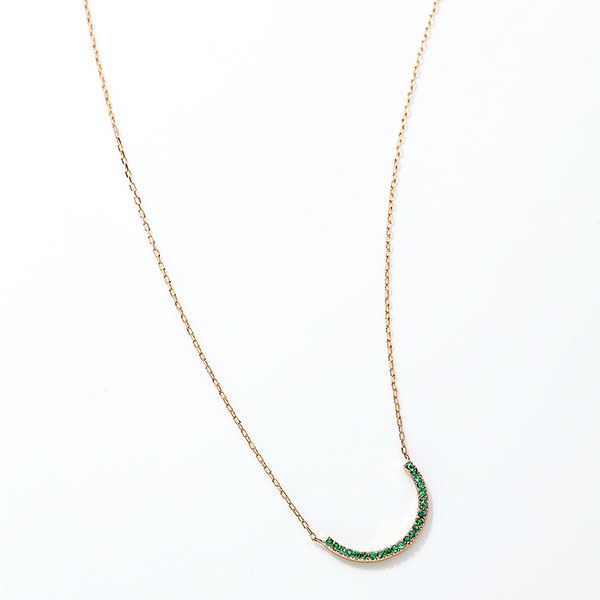 "Keep smiling necklace""Emerald"""