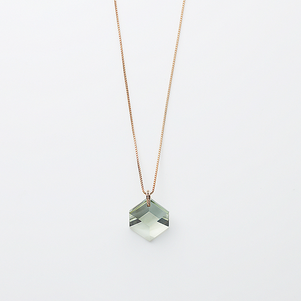 Too sweet necklace(green amethyst)