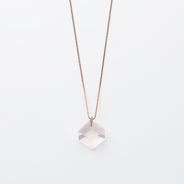 Too sweet necklace(rose quartz)