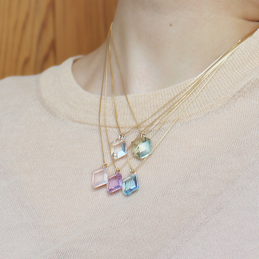 Too sweet necklace(blue topaz) 詳細画像 Blue 4