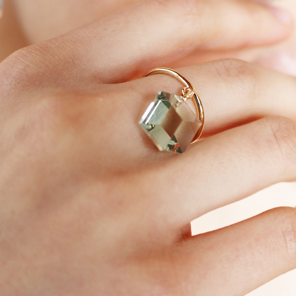 Too sweet ring(green amethyst) 詳細画像