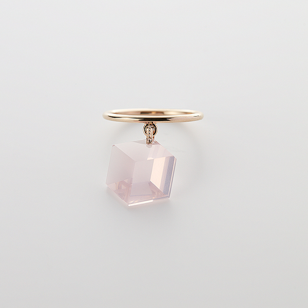 Too sweet ring(rose quartz)
