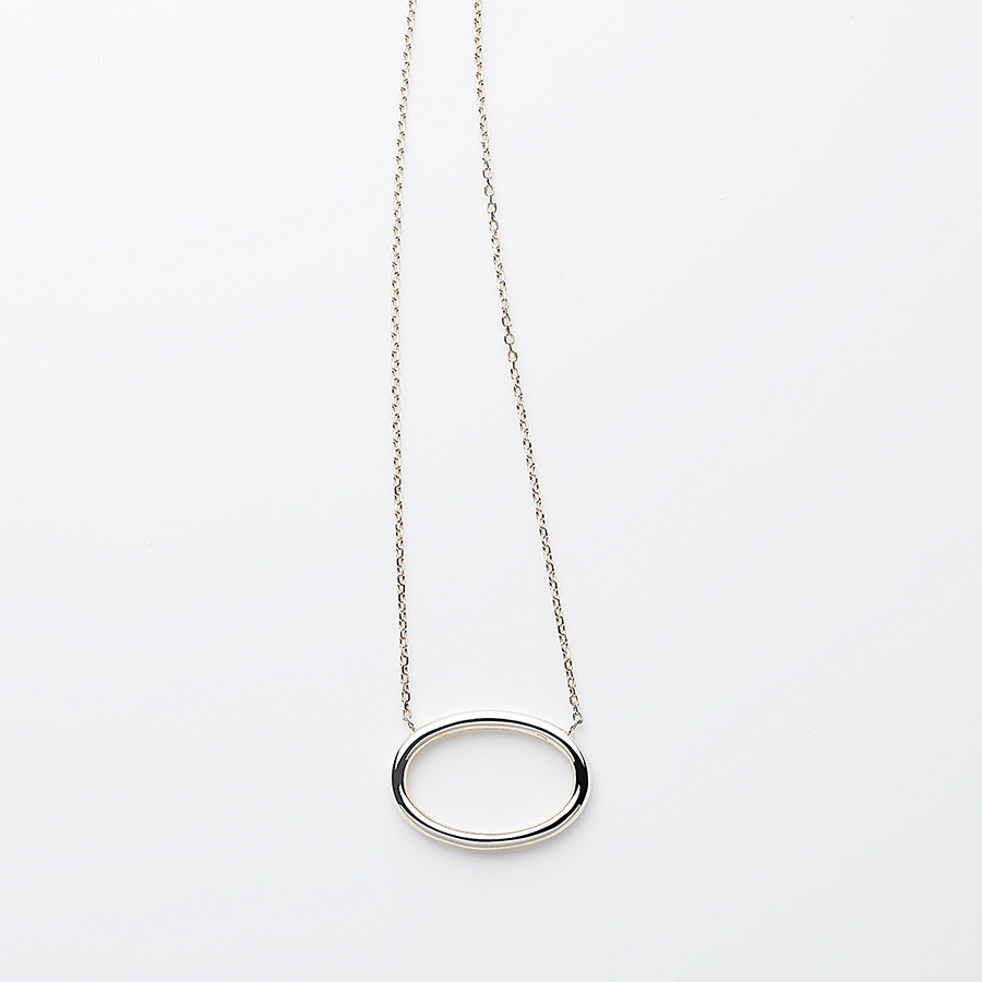 Oval necklace 詳細画像 Silver 1