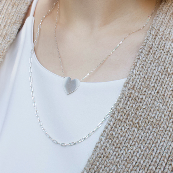 Heart plate necklace 詳細画像