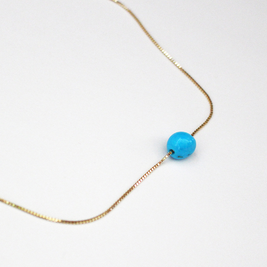 Tumble turquoise necklace 詳細画像 Gold 1