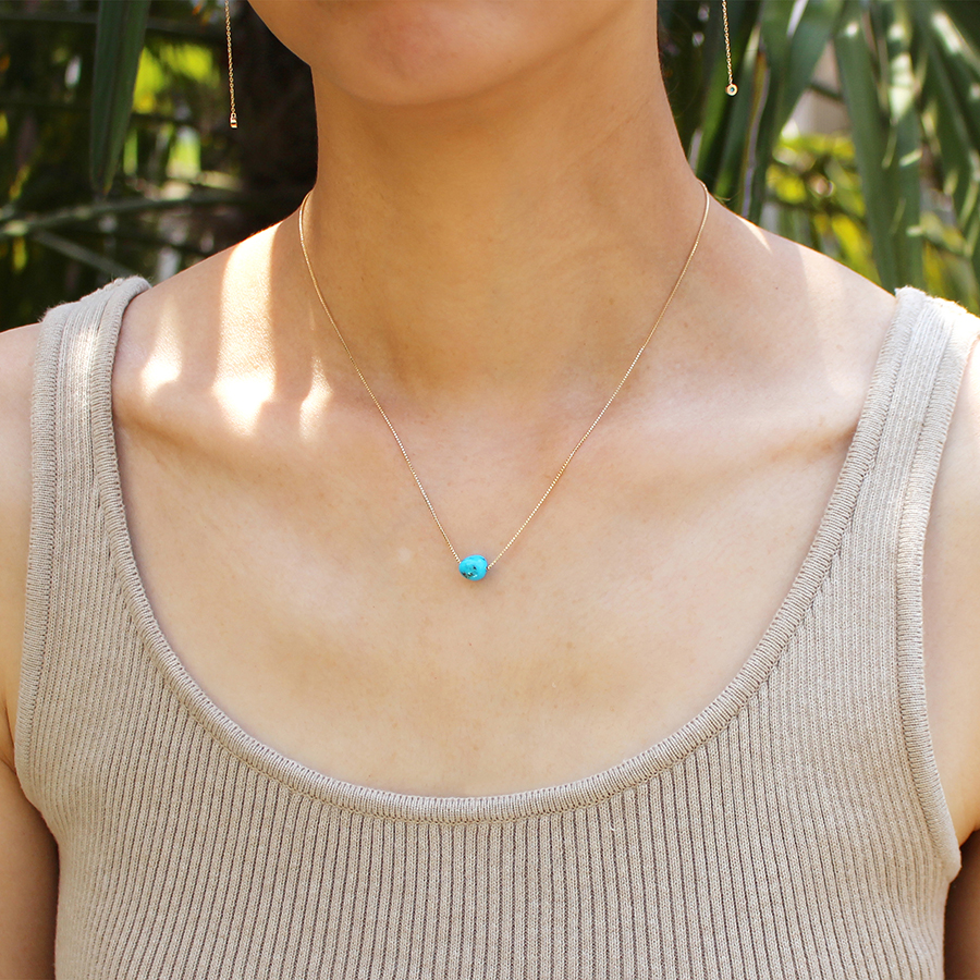 Tumble turquoise necklace 詳細画像 Gold 4