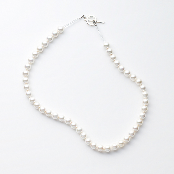 Shell pearl crystal necklace
