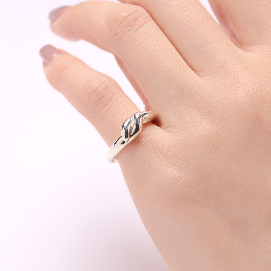 Mold pinky ring(knot) 詳細画像 Silver 3