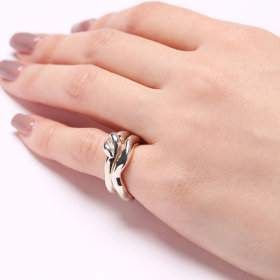 Mold pinky ring(knot) 詳細画像 Silver 4