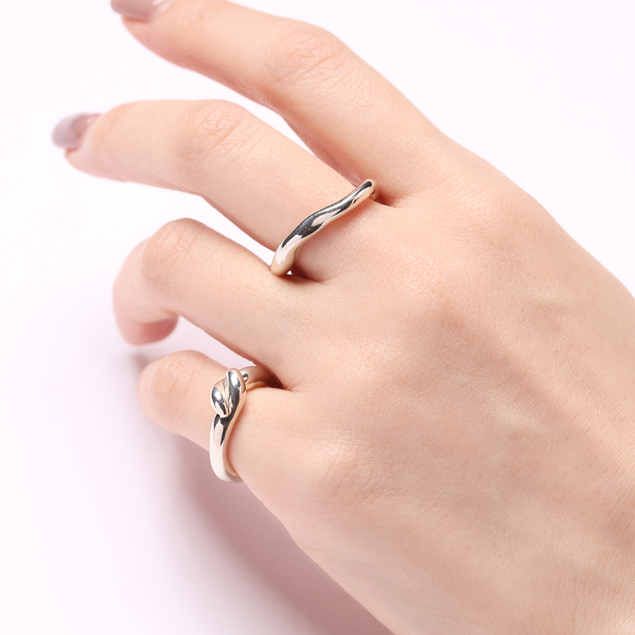 Mold pinky ring(knot) 詳細画像 Silver 5