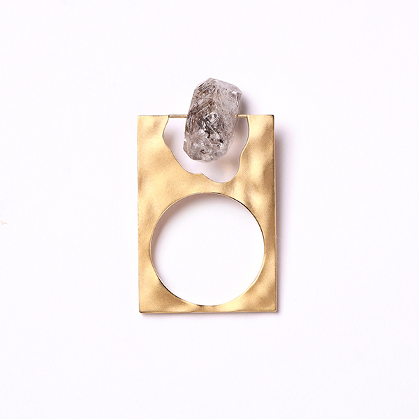 Enasoluna×STAIR  Fragment ring(herkimer quartz)