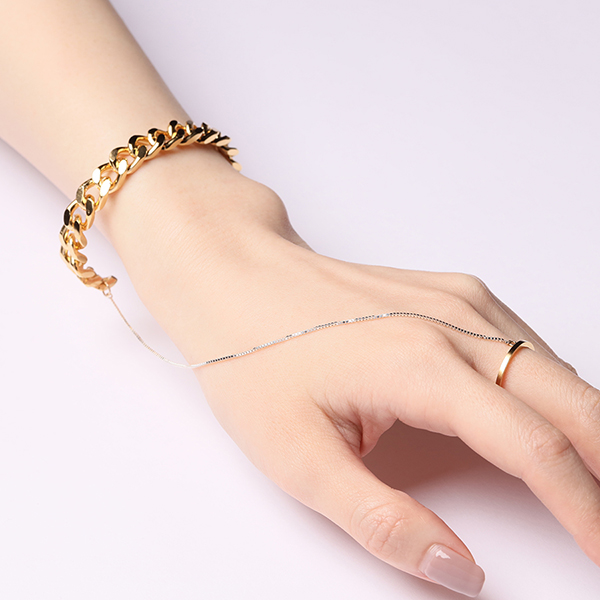 Enasoluna×STAIR  Connected bangle 詳細画像 Gold 1